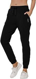 HIBETY Women's Joggers Pants Sweatpants Cotton Athletic Yoga Pants Workout Running Lounge Pants Pockets