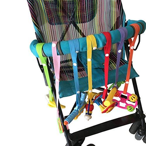 Tukistore Schnullerkette Baby 7pcs Anti Drop Spielzeug Flasche Verschluss Schnuller Clips Kleiderbügel Gurt Gürtel für Kinderwagen Autositz Hochstuhl