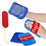 Pet Hair Remover, Dog Cat Fur Glove Mitt and Lint Remover Brush, Removal for Clothes Furniture Car Couch Sweaters Sofa Carpet Vehicle (3Pcs)