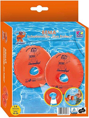 Bema Original Schwimmflügel mit Schaumstoffkern, Orange, für Kinder von 3-6 Jahren (2X Duo Protect)