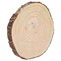 オーナメント不規則なウッドスライス、樹皮付き、GAHAHJAJAオーナメントアクセサリー(22.5*23)
