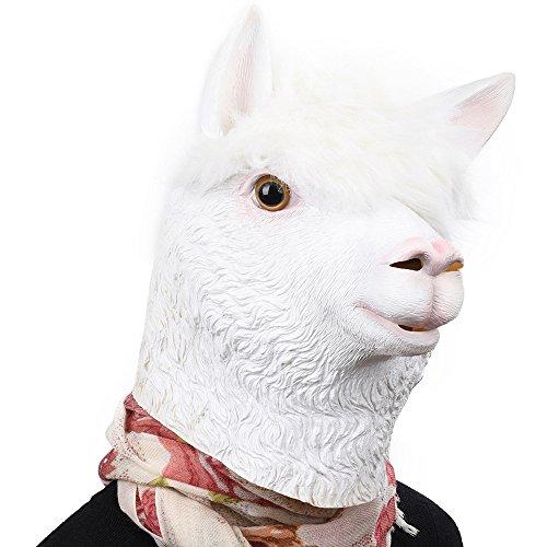 Party Story Alpaca Máscara de Animal de Látex Novedad Disfraz de Halloween...