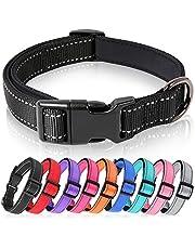 HEELE Hondenhalsband, Reflecterende Halsband, Gevoerde, Ademende, Zachte Neopreen Nylon Halsband, Verstelbaar voor Kleine Middelgrote Grote Honden