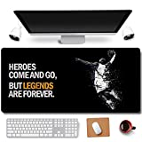 31.5x11.8 Inch Cool Legend Black Mamba Kobe Non-Slip Rubber Extended Large Game Mouse Pad Computer Keyboard Mouse Mat PC Accessories