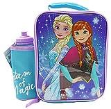 DISNEY FROZEN Set Lunch Box Bag con Borraccia, Contenitore Alimenti per bambini, Borsa Ter...