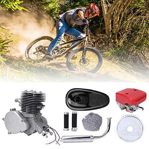 Jacksking Kit de Motor de Bicicleta Kit de Motor de Bicicleta de 100cc Kit de Motor de Motor de Gas de 2 Tiempos Kit de Motor de Motor de Gas de Gasolina para Bicicleta motorizada