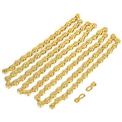 awstroe 11 Speed Bike Chain, Ultralight Hollow-Out Chain, High Strength Bike Chain, 116 Links Replacement Parts, for Fixed Gear Road Bikes Bicycles