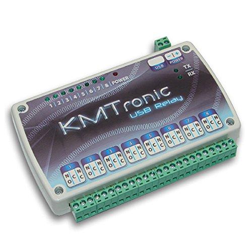 KMtronic LAN DS18B20 Web Temperaturmonitor 4 Kabelsensoren Komplett