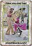 Levis Jeans Women Retro Zinnschild Poster Wandschild Metall