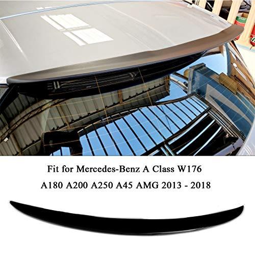 LIBAITIAN Carbon Faser/FRP Heckspoiler Tuning für Mercedes-Benz EINE Klasse W176 A180 A200 A250 A45 AMG 2013-2018 stamm Fenster Spoiler,Schwarz