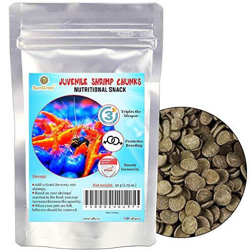 SunGrow Shirakura EBI DAMA Garnelenfutter, 30 Grams, Erhöhen Sie die Garnelenpopulation, Komplette Diät Stiefel Immunsystem