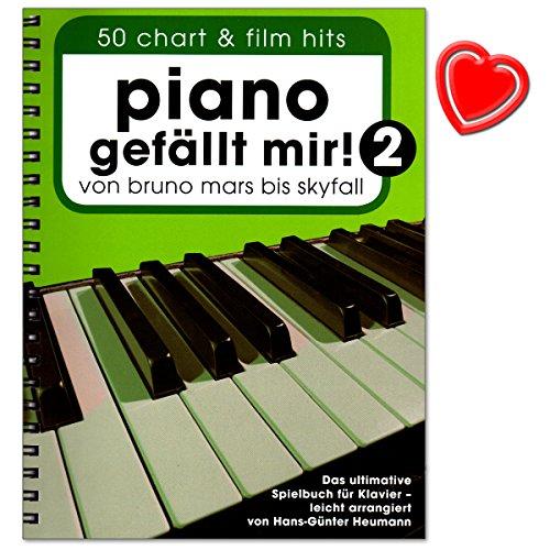 Piano gefällt mir Band 2 (Spiralbindung) - 50 Chart a Film Hits. Von Bruno Mars bis Skyfall. Das ultimative Spielbuch für Klavier von Hans-Günter Heumann - mit Notenklammer - BOE7789 9783865438928