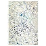 artboxONE Poster 30x20 cm Städte Chemnitz Deutschland Blue