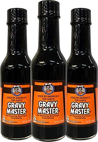 Gravy Master: Grilling, Seasoning and Browning Sauce - Ready to Use - 3 Bottles - Vegan, No Gluten - Halal, Kosher, Pareve - Grill, Glaze, Braise, Steak Crust - Made in the USA - Since 1935