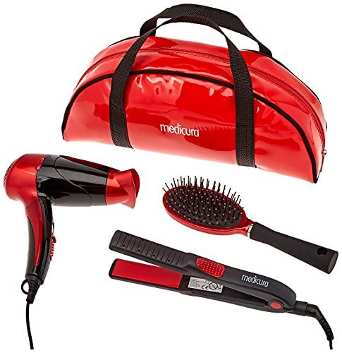 Ardes - Kit de utensilios para el cabello 8secador, plancha, cepillo y funda)