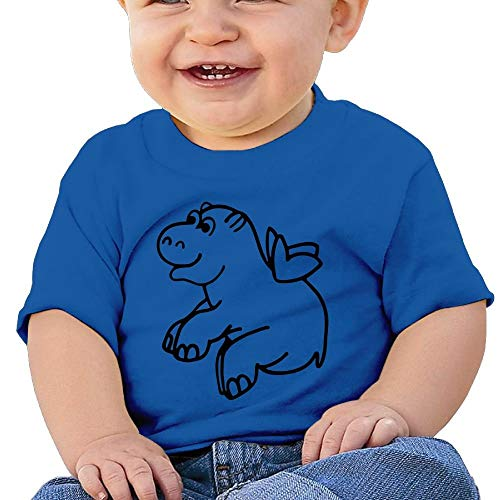 Baby Girl Toddler Flying Hippo Short Sleeves Tshirts