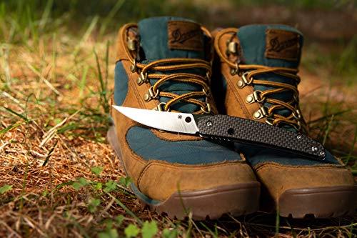"Spyderco Ikuchi Flipper Pocket Knife with 3.26"" CPM S30V Stainless Steel Blade and Carbon Fiber G-10 Laminate Handle - PlainEdge - C242CFP"