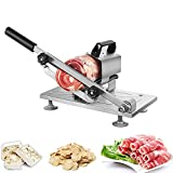 Manual Frozen Meat Slicer, Stainless Steel Frozen Meat Cutter Slicer for Home Use, Beef Mutton Roll Bacon Cheese Slicer, Slicing Machine for Home Kitchen of Hot Pot BBQ