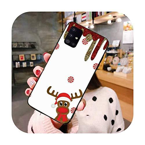Caja del teléfono de ciervos de dibujos animados de Navidad para Samsung S6 S7 borde S8 S9 S10 e más A10 A50 A70 note8 J7 2017-a3-Samsung J7 2017