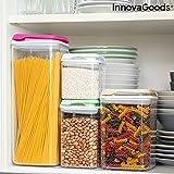 InnovaGoods IG815677 Set de Recipientes de Cocina Herméticos Apilables Pilocks 4 Piezas, Silicona