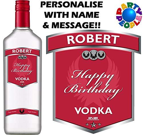 Party People 1 x PERSONALISIERTES Wodka-Flaschen-Etikett. JEGLICHER Name UND Nachricht