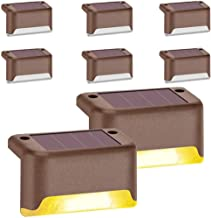 Solar Deck Lights Outdoor, Solar Step Light LED Waterproof Lighting for Outdoor Deck, Patio, Stair, Yard, Path and Drivewa...