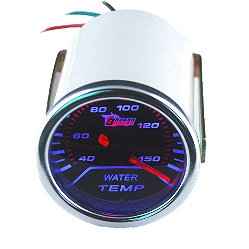 ESUPPORT Car 2' 52mm Water Temp Gauge Meter Temperature Light