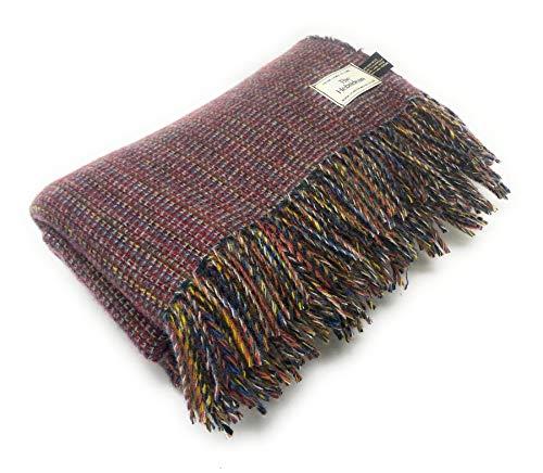 Scotch Tweed Hebrideanischer Teppich, 100 {25250a78a2c4fff053725da23d57b012ce2cfe47d751c025ec34137a4b54dee0} recycelte Wolle, extragroß, Rot