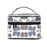 Bolsas de cosméticos Butterflies Pastel Pantone Colors Pink Blue Nurser Travel Makeup Bag Portable Makeup Boxes for Women Cosmetic Case Storage Organizer Travel Daily Carry