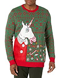 Blizzard Bay LED Light Up vomiting unicorn ugly Christmas Sweater