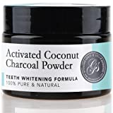 Charcoal Teeth Whitening Powder | 100% Organic & Natural | Safe & Effective Whitener for Normal & Sensitive Teeth - Get Whiter & Brighter Results with Active Coconut Charcoal by Grace & Stella Co.