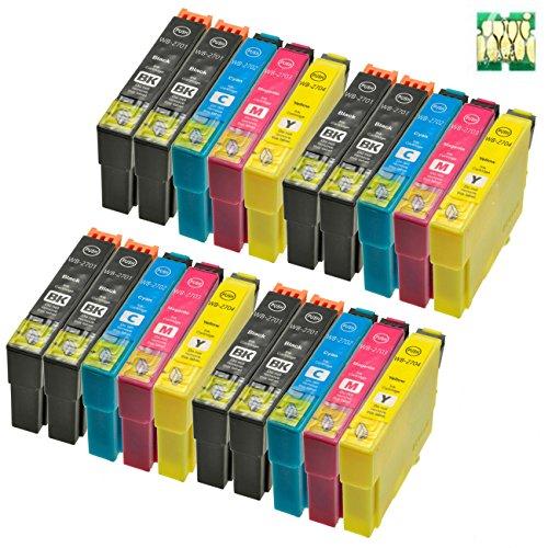 Abcs Printing Compatibili Epson 2701 2702 2703 2704 Cartucce inchiostro per Epson Workforce WF-7110 WF-7610 WF-7620 WF-3620 WF-3640 ,8 Nero, 4 Ciano,4 Magenta, 4 Giallo