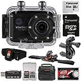 Vivitar DVR786HD 1080p HD Waterproof Action Video Camera Camcorder (Black) with...