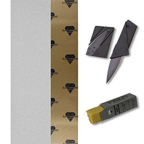 Black Diamond 9x33 Clear Skateboard Griptape + Grip Knife + Grip Cleaner