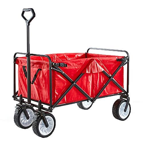 MNSSRN Im Freien Faltbare Wagen, große Kapazität, verschleißfest, stabil und langlebig, Dicker Stoff mit Bremse, Einkaufswagen, bewegliche Angeln Picknickwagen,B
