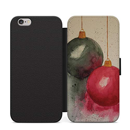 Campanas en un árbol Navidad Año Nuevo Billetera Cuero Flip teléfono caso cubierta para Samsung Galaxy A01