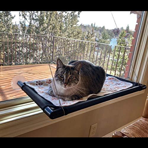 Katzenbett Fenster Katzenbett Fensterbank Pet Sunny Seat Fenster-Katzenbett Sonnenlicht Am Fenster Katzenspielzeug Sicherer Katzen-KlettergerüSt Sonnenbaden + TagträUmen 68×37cm KöNnen 15 Kg Tragen