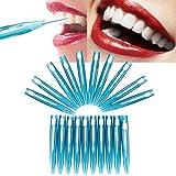 Cepillo interdental, juego doble hilo desechable hilo dental higiene hilo dental palillos sanos para la limpieza de los dientes cuidado oral 20pcs