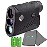 SIG Sauer KILO1600 6x22mm Waterproof Digital Ballistic Laser Rangefinder OLED SOK16608 with 2 Extra CR2 Batteries and a Lumintrail Microfiber Cleaning Cloth