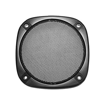 sourcing map Speaker Grill Cover 5 Inch 138mm Mesh Decorative Square Subwoofer Guard Protector Black from sourcing map