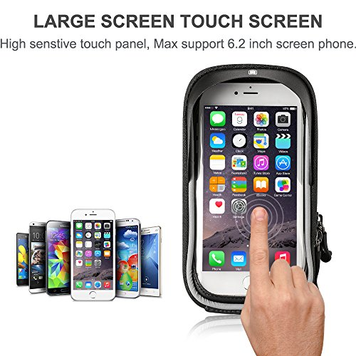 Furado Rahmentaschen, Fahrradtaschen Fahrrad Rahmentaschen für Smartphone bis zu 6 Zoll, Wasserabweisende Fahrrad Handyhalterung für alle Fahrradtypen, Fahrradtasche Rahmentaschen - 6