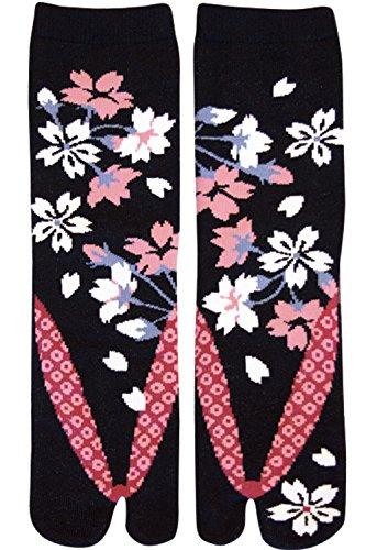 Calcetines japoneses Samurai Ninja Tabi, Flores de Cerezo