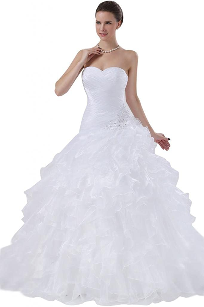 SUNVARY Gorgeous Soft Organza Ball Gown Dresses Wedding for Overseas parallel import regular item Brid 2021 model