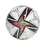 adidas CONEXT21 PRO Sala, Pallone da Futsal Unisex Adulto, Top: Bianco/Nero/Shock Pink/Segnale del Fondo Verde: Bright Ciano/Ferro Met, FUTS