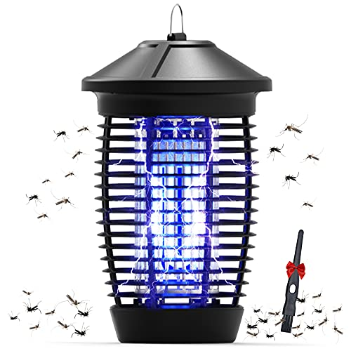 Bug Zapper Outdoor 4400V Electric Mosquito Zapper with 1/2 Acre Coverage Waterproof Bug Zapper Indoor with 18W UVA Replaceable Mosquito Killer Bulb Indoor Bug Zapper for Home Backyard Garden Patio