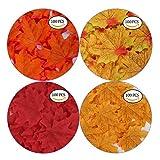 GiBot 400 Stück sortierte farbige Ahornblätter künstliche Herbstkunst Ahornblätter Tischdeko für Halloween, Thanksgiving, Hochzeiten, Zuhause, Innen- und Außendekoration - 2