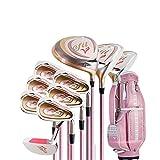El juego de palos de golf para damas derechas para damas de Precise incluye un controlador de titanio El juego incluye todos los clubes que necesita para seguir adelante y un elegante emparejamiento