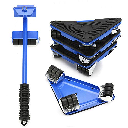 Mandycng Magic Mover 5PCS Furniture Lifter Moves Wheels Mover Sliders Kit 660 lbs Home Moving System