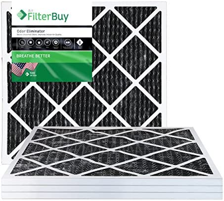 FilterBuy Allergen Odor Eliminator 20x23x1 MERV 8 Pleated AC Furnace Air Filter with Activated product image