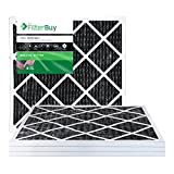carbon ac filter - FilterBuy Allergen Odor Eliminator 20x20x1 MERV 8 Pleated AC Furnace Air Filter with Activated Carbon - Pack of 4 - 20x20x1
